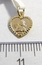 Pretis zlatý přívěsek srdíčko s andělíčkem 585/0,55gr P039