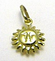 Marcello Diamant Zlatý přívěsek sluníčko 585/0,65gr T156