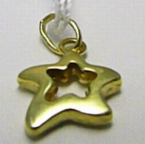 Marcello Diamant Zlatá hvězdička - přívěsek ze žlutého zlata 585/0,40gr T151
