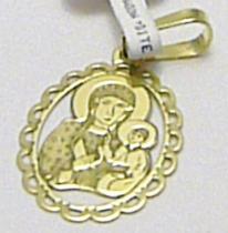Pretis Celozlatá velká madonka v oválku ze žlutého zlata 585/0,8gr P349