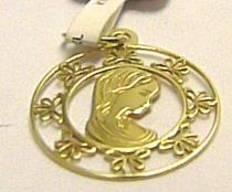 Pretis Zlatý přívěsek panna Maria - madonka s gravírováním 585/0,50gr P452
