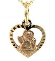 Pretis Zlatý přívěsek anděl, 232-0121