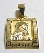 Holan Jaroslav velká zlatá madonka s dítětem přívěsek 585/0,97gr H148