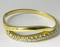 Zlatokov zlatý prsten posetý zirkony 585/1,80gr Z081 223041269