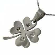 SKALIMAR Ocelový čtyřlístek přívěsek z chirurgické oceli 316L 306 313306
