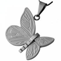 SKALIMAR Ocelový přívěsek z chirurgické ocele motýl 213444
