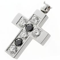 SKALIMAR Ocelový přívěsek křížek z chirurgické oceli 313395