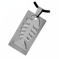 SKALIMAR Přívěsek z chirurgické oceli destička ryba 316L 401 213401