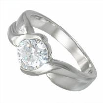 SKALIMAR ocelový prsten z chirurgické oceli 316L se zirkonem 212194/17