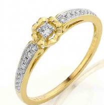 Pretis zásnubní diamantový prsten s brilianty 3810846