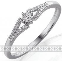 Pretis zásnubní zlatý diamantový prsten posetý brilianty 3861303