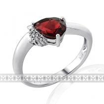 Luxurgold prsten s diamanty a rudým přrodním granátem 3860516 585/2,60gr