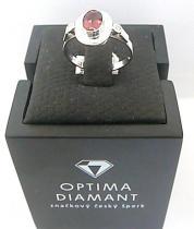 Optima Diamant Diamantový prsten z bílého zlata s TURMALÍNEM a DIAMANTY