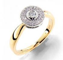 Pretis Prsten s diamantem žluté zlato GEMS Melania