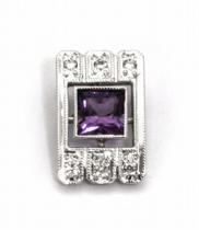 Optima Diamant Diamantový zlatý přívěsek s brazilským ametystem 585/1,29gr J-20791-12