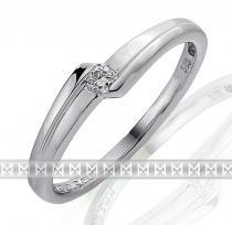 Pretis Zásnubní prsten s diamantem, bílé zlato brilianty - diamant 585/1,95gr 3860694