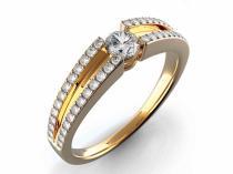 Pretis Zásnubní diamantový prsten s diamanty GEMS diamonds, žluté zlato 3810427