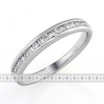 Pretis zlatý diamantový prsten s diamantem, bílé zlato brilianty 386167 3861673
