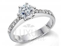 Pretis Diamantový prsten, bílé zlato, REINA, GEMS