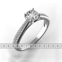 Pretis diamantový zásnubní prsten bílé zlato briliant
