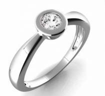 Pretis Zásnubní prsten s diamantem, bílé zlato Gems Věra