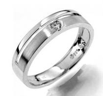 Pretis Prsten s diamantem bílé zlato Gems Gabriela
