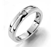 Pretis Prsten s diamantem, bílé zlato Gems Afra