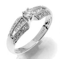 Pretis Prsten s diamanty, bílé zlato Gems Glorie