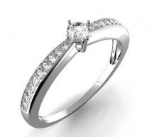 Pretis Zásnubní prsten s diamantem Karin, bílé zlato Gems elegant