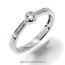 Pretis GEMS prsten s diamanty Ida, bílé zlato