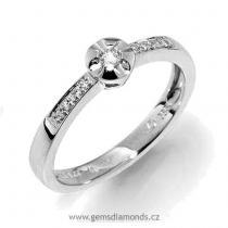 Pretis Zásnubní GEMS prsten s diamanty Iris, bílé zlato