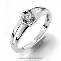 Pretis GEMS prsten s diamantem Olympie, bílé zlato