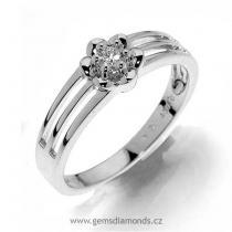 Pretis Zásnubní GEMS prsten s diamantem Oxana, bílé zlato