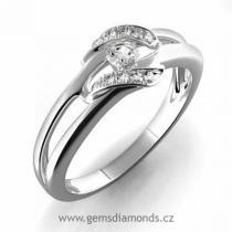 Pretis Zásnubní GEMS prsten s diamanty Julie, bílé zlato