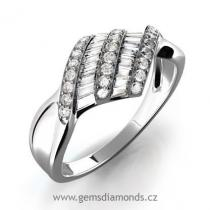 Pretis Zásnubní GEMS prsten s diamanty Laura, bílé zlato
