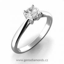 Pretis GEMS prsten s diamantem Viola, bílé zlato