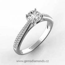 Pretis prsten s diamanty Adriana, bílé zlato