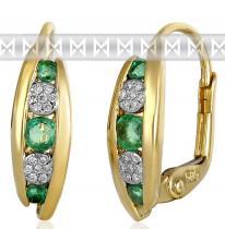 Pretis náušnice s diamanty a smaragdy 3831045