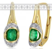 Pretis Diamantové náušnice s přírodnými zelenými smaragdy 3830932