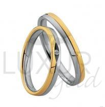 Pretis šperkové snubní prsteny z kombinace zlata 436-506-507.5