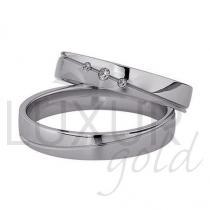 Pretis Snubní prsteny bílé zlato 436-502-503 se zirkony/diamanty