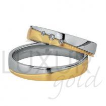 Pretis snubní prsteny žluto bílé zlato 436-502-503.5 - kombinace zlata