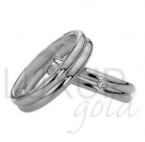 Pretis snubní prsteny bílé zlato 436-504-505