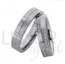 Pretis zlaté snubní prsteny bílé zlato 436-500-501