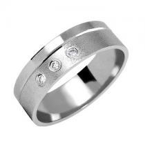Soliter Zlatý snubní prsten 375 - se zirkony - 585/3,65g