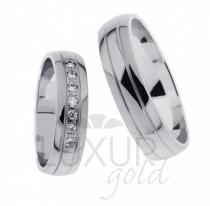 Pretis Snubní prsten bílé zlato 436-621-622