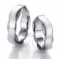 Pretis snubní prsten bílé zlato, 436-512-513