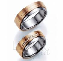 Pretis snubní prsteny červeno bílé zlato, 436-518-519 - kombinace AU