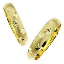 Pretis Zlatý snubní prsten matovaný GEMS BASIC 585/1000 - 3,0g