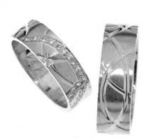 Pretis Zlatý snubní prsten Gems Line, 436-0171_0172